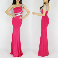One-Shoulder-Long-Mermaid-Evening-Dress-Backless-Pink-Evening-Gown