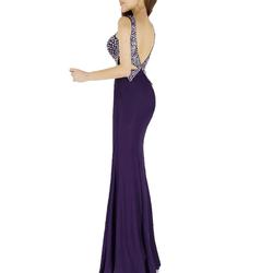 Long Evening Dress 2016 purple