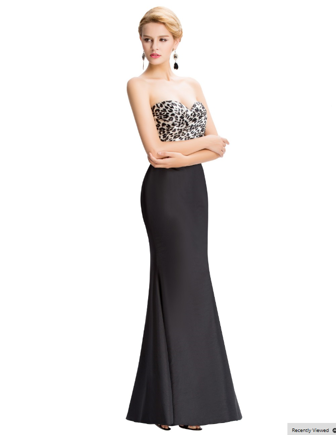 Strapless Black Mermaid 2016