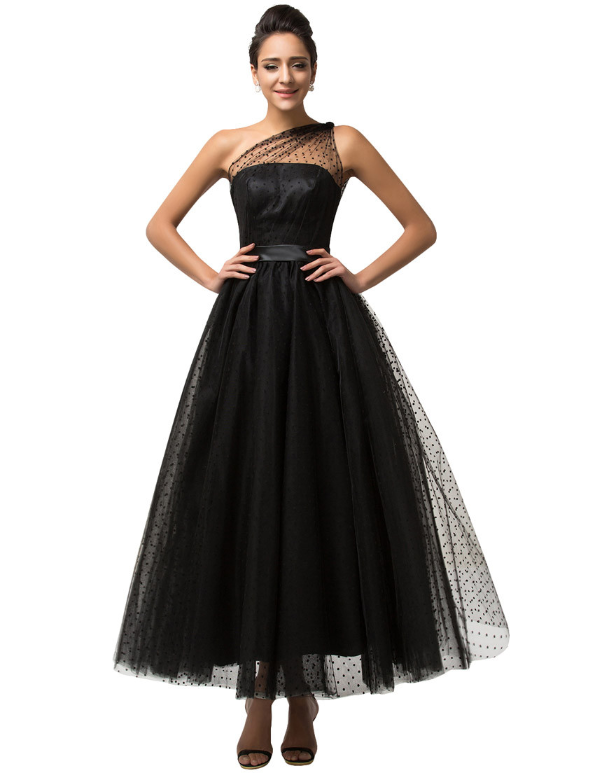 2016 Black Long Gown