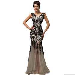2016 Lace Up Black Dress