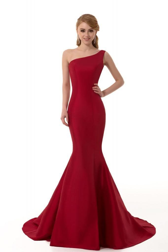 Elegant Red Mermaid Evening Dress