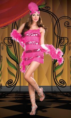 Charleston Pink Flapper