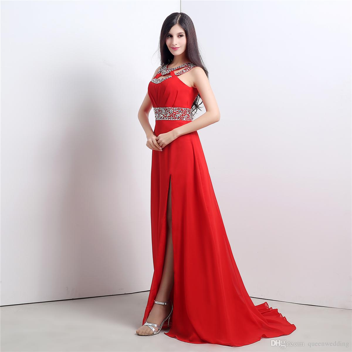 Long Red Gown
