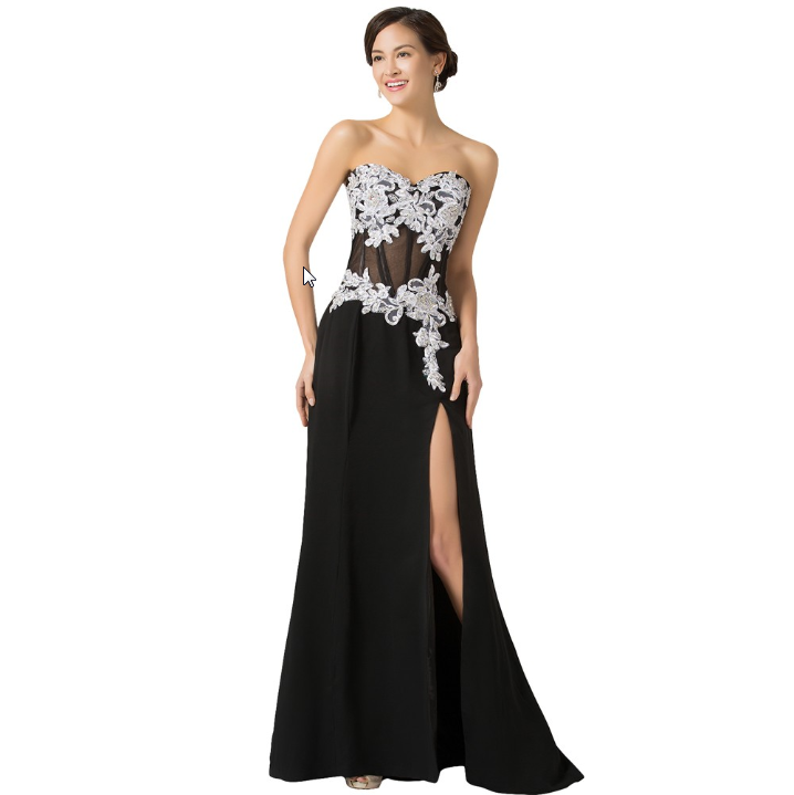 Sexy Long Evening Dress black
