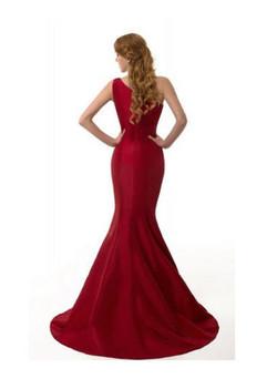 Elegant Red Mermaid Evening Dress