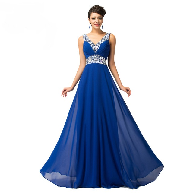 Royal Blue Evening Dress Elegant Long Evening Gown