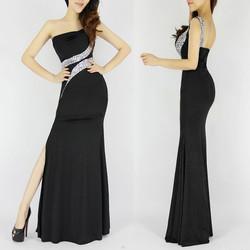 One-Shoulder-Long-Mermaid-Evening-Dress-Backless-Black-Evening-Gown