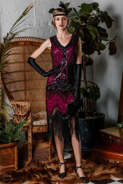 1920s Flapper Sequin Dress