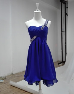 Blue Short Prom Dress