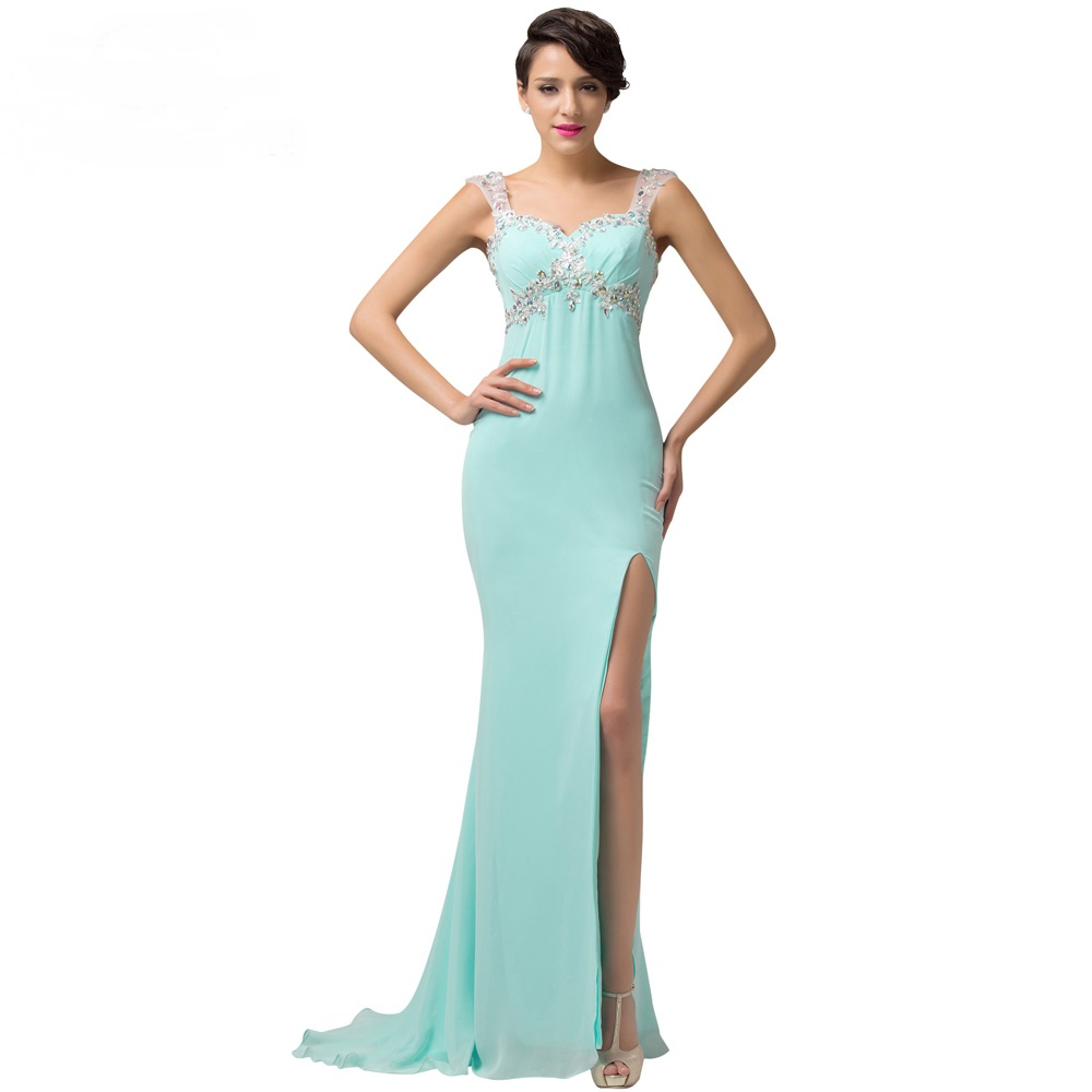 Turquoise Long Evening Dress