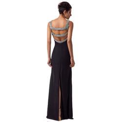 Long Black Mermaid Evening Dress