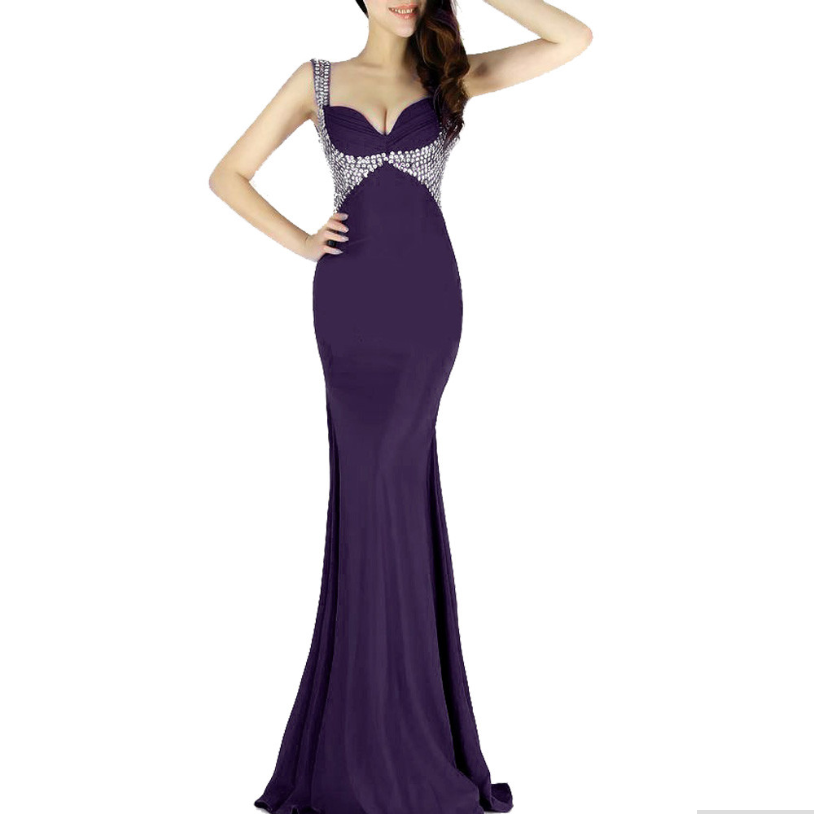 Long Evening Dress 2016 purple