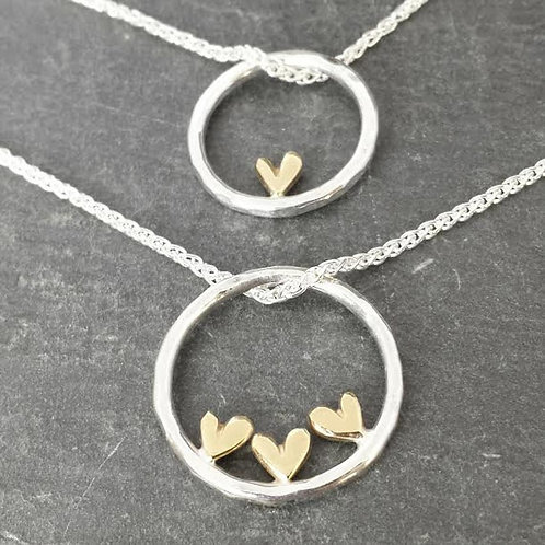 Complete Sweetheart - gold heart pendant