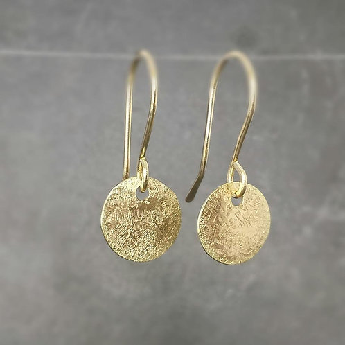 Raw Silk - delicate silk textured dangles