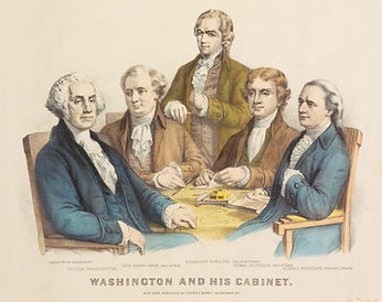 washington-and-his-cabinet-by-currier-iv