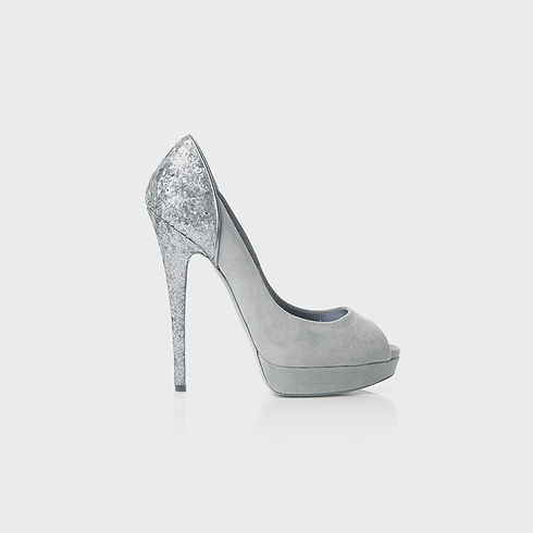 Silver Glitter Stilettos