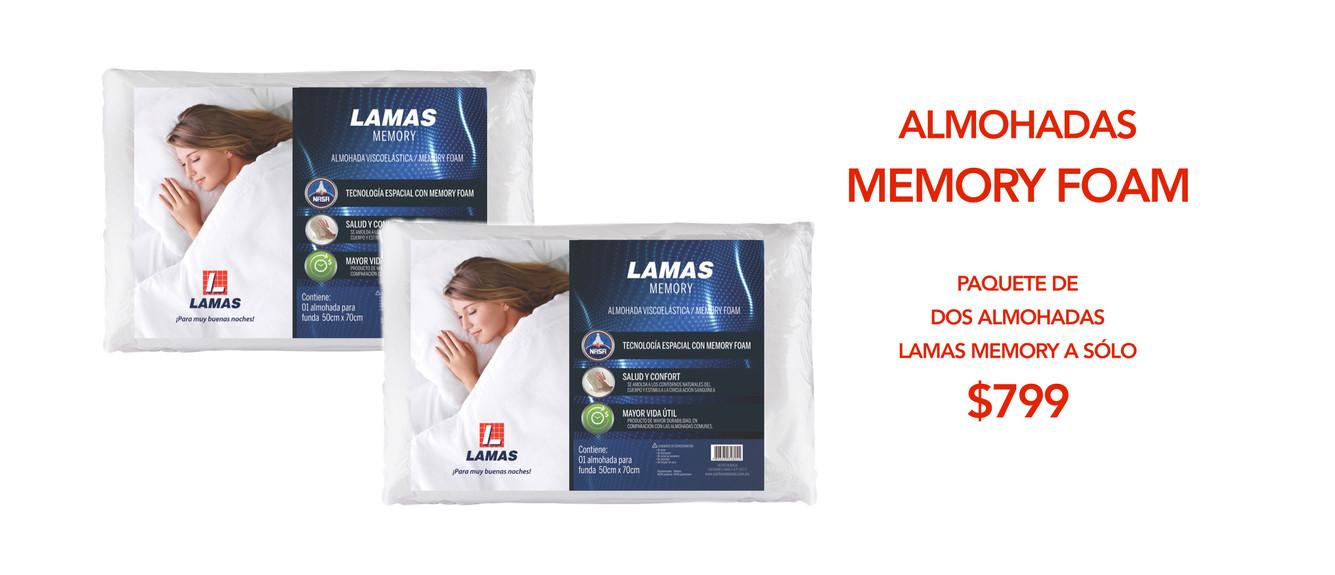 ALMOHADA MEMORY FOAM LAMAS KING KOIL