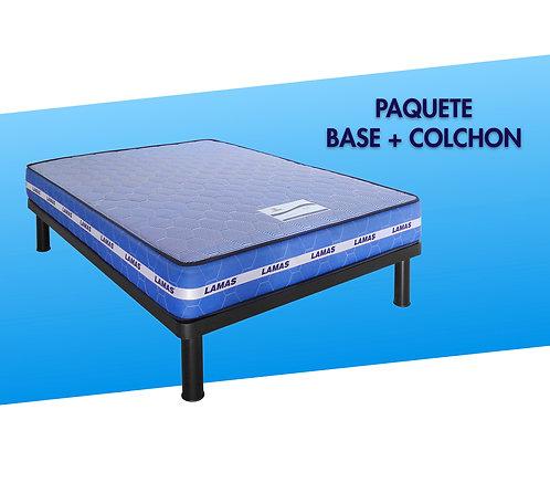 PACK DE BASE CON COLCHÓN BLUE ORTOPÉDICO