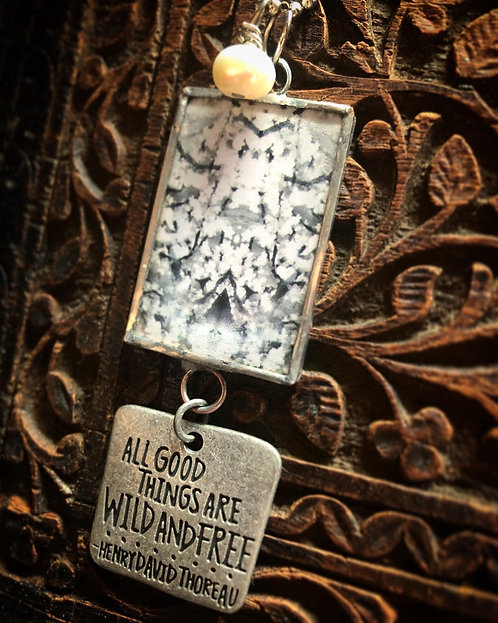 Breathe: All Good Things are Wild and Free Necklace