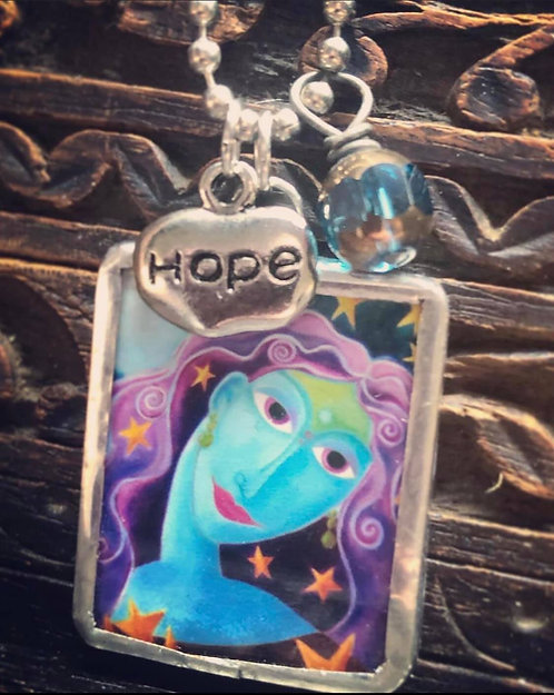 Under a Blue Moon Wishes Do Come True Necklace
