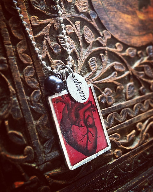 Couragous Heart Necklace