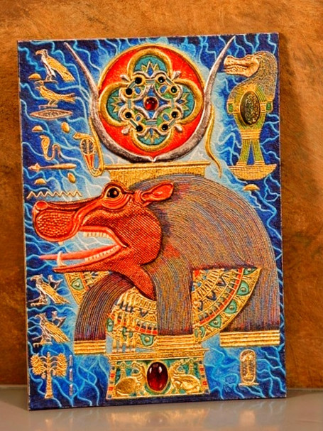 Akem-Shield of Taweret Who Belongs to the Doum Palm