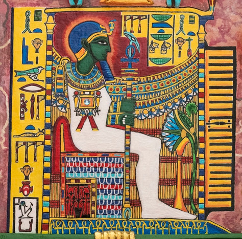 The God Ptah enthroned