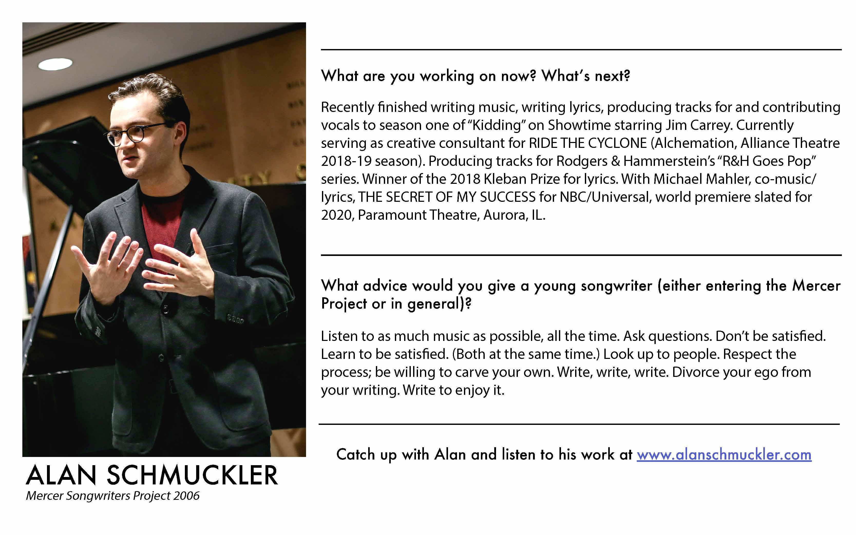 Alan Schmuckler - Mercer Alumni Survey 2