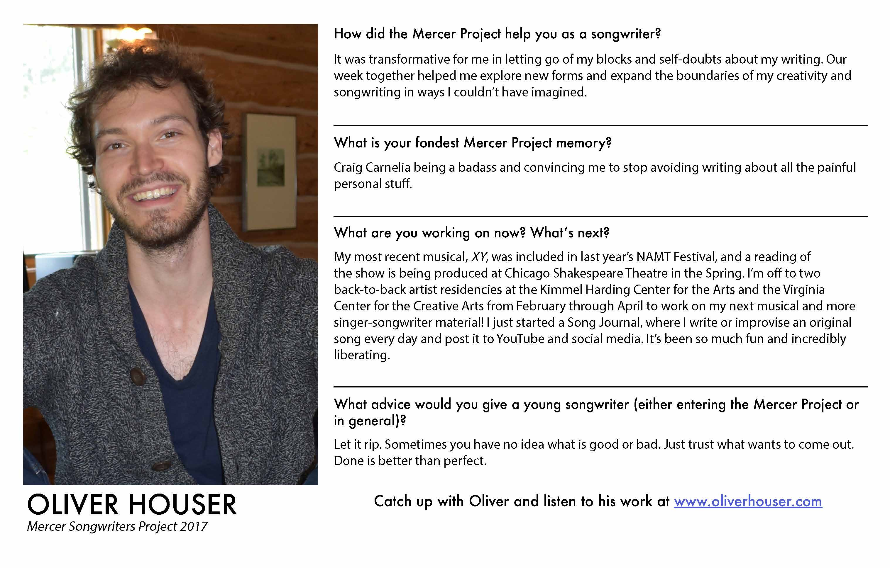 Oliver Houser - Mercer Alumni Survey 201