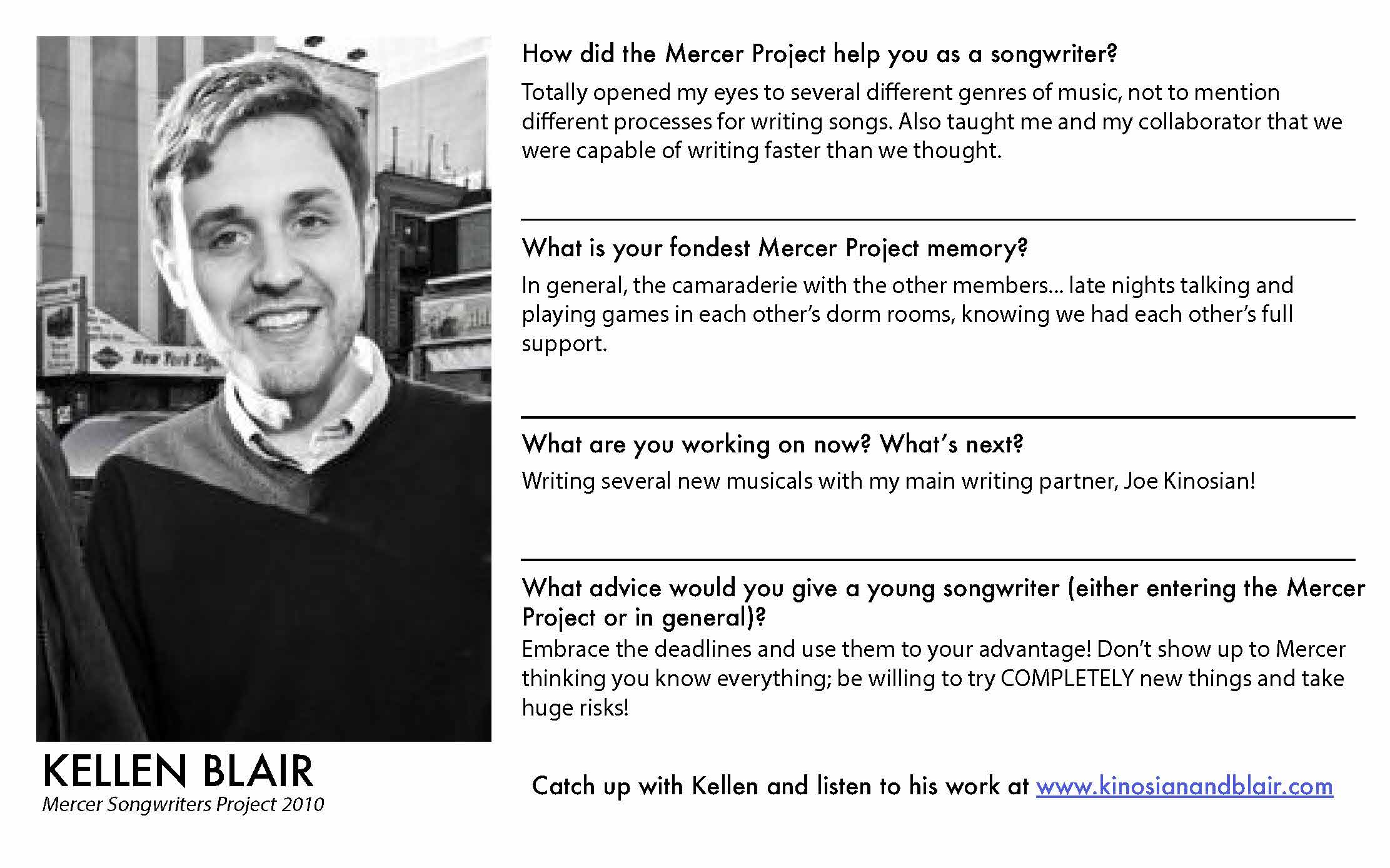 Kellen Blair - Mercer Alumni Survey 2019