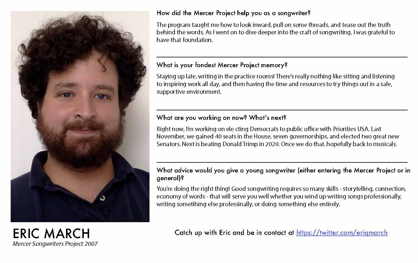 Eric March - Mercer Alumni Survey 2019