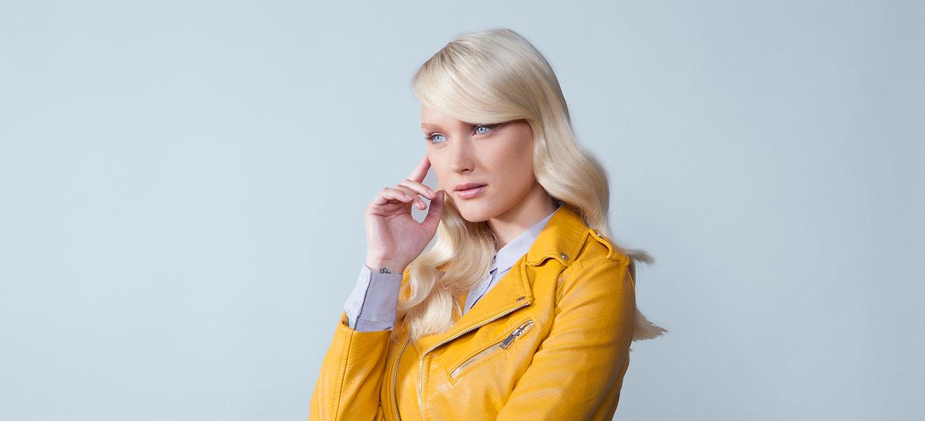 Fashion-Model-Yellow-Jacket