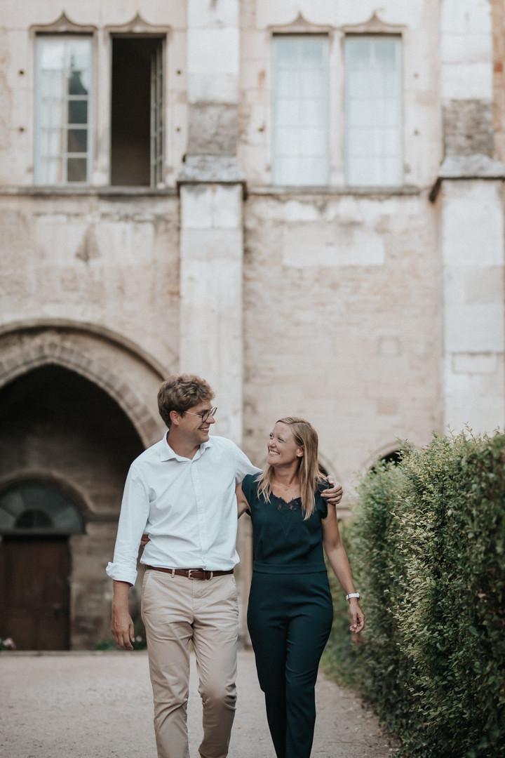 Photographe bourgogne couple engagement