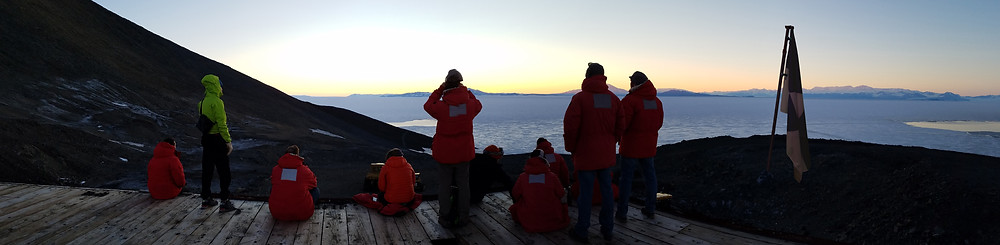 Antarcticans looking out over the Ross Ice Shelf