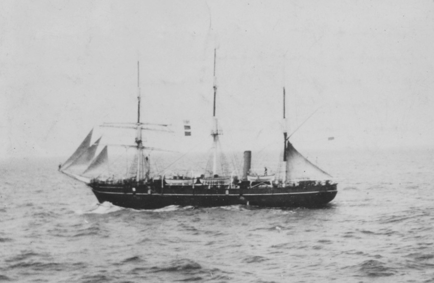 RSS Discovery returning from Antarctica carrying the BANZARE expedition.
