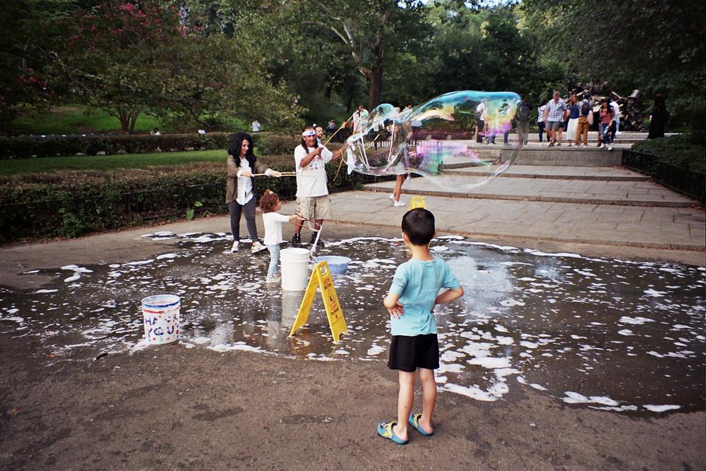 New York, Central Park, Bubbles