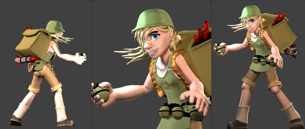 Bomber Girl - Early Detail Shot