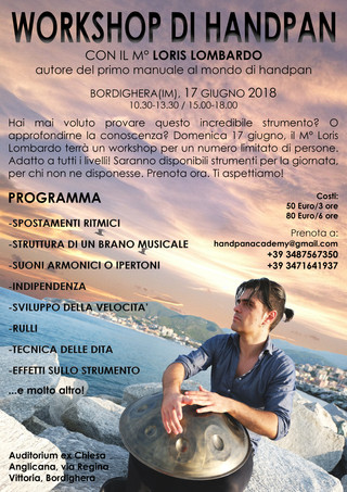 Loris Lombardo - Workshop Bordighera