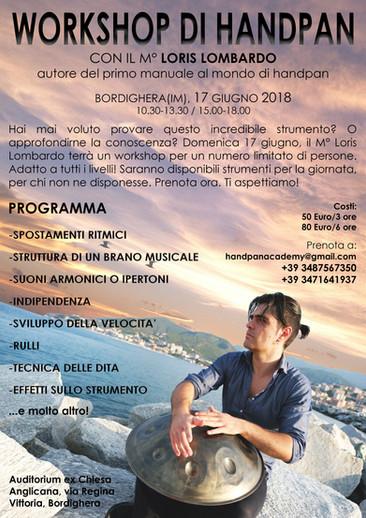 Loris Lombardo - Workshop Bordighera
