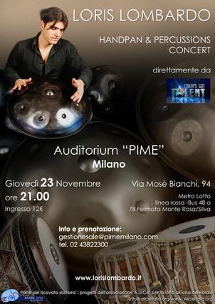 "Loris Lombardo - Concerto Milano ""Pime"""