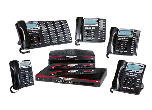 Image of our VOIP telephone system options from Allworx
