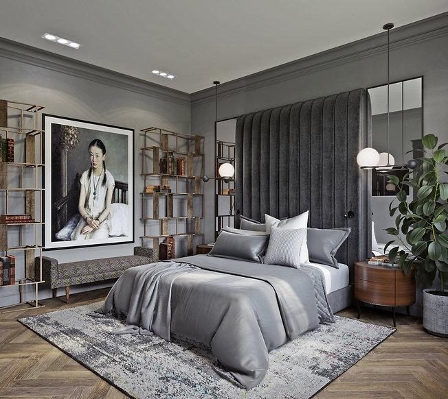 Визуализация спальни в итальянскомстиле