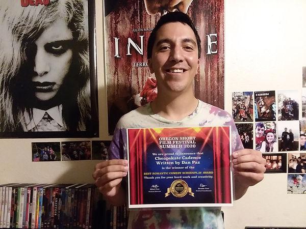 Age 28 - OSFF Award for Cheapskate Caden