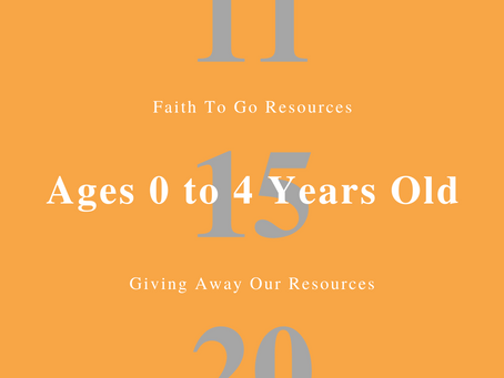 Week of November 15, 2020: Giving Away Our Resources (Ages 0-4)