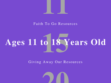 Week of November 15, 2020: Giving Away Our Resources (Ages 11-18)