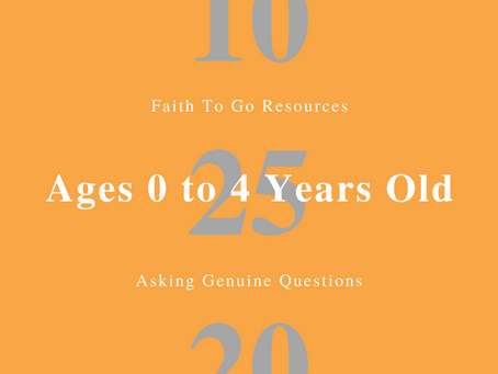 Week of October 25, 2020: Asking Genuine Questions (Ages 0-4)