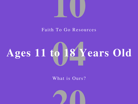 Week of October 4, 2020: What is Ours? (Ages 11-18)