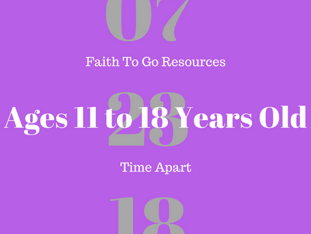 Week of July 23, 2018: Time Apart (Ages 11-18)