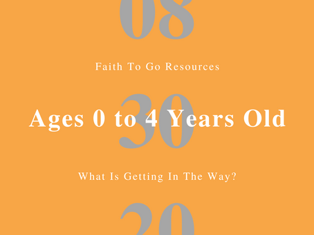 Week of August 30, 2020: What Is Getting In The Way? (Ages 0-4)